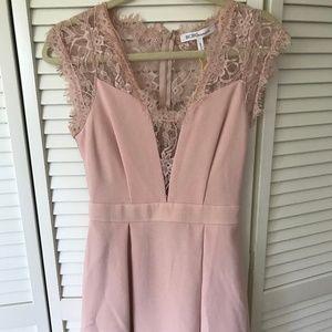 BCBGeneration Lace-Back Pleated Dress